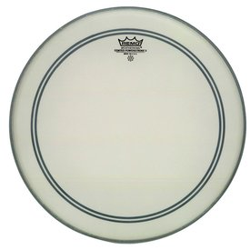 """Remo Remo Coated Powerstroke 3 23"""" Diameter Bass Drumhead - 2-1/2"""" White Falam Patch"""