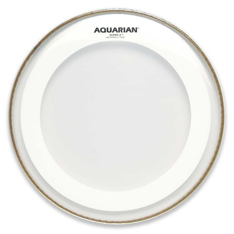 "Aquarian Super-2 Series 14"" Drumhead with Studio-X Ring"