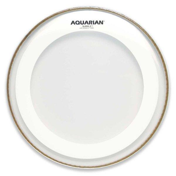 "Aquarian Aquarian Super-2 Series 14"" Drumhead with Studio-X Ring"