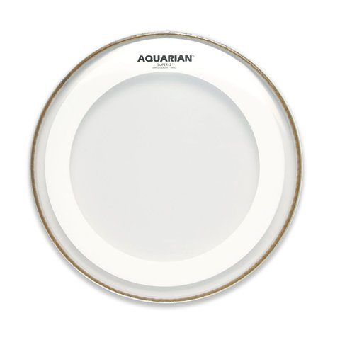 "Aquarian Super-2 Series 15"" Drumhead with Studio-X Ring"