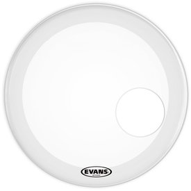 "Evans Evans EQ3 Resonant Smooth White 24"" Bass Drumhead"