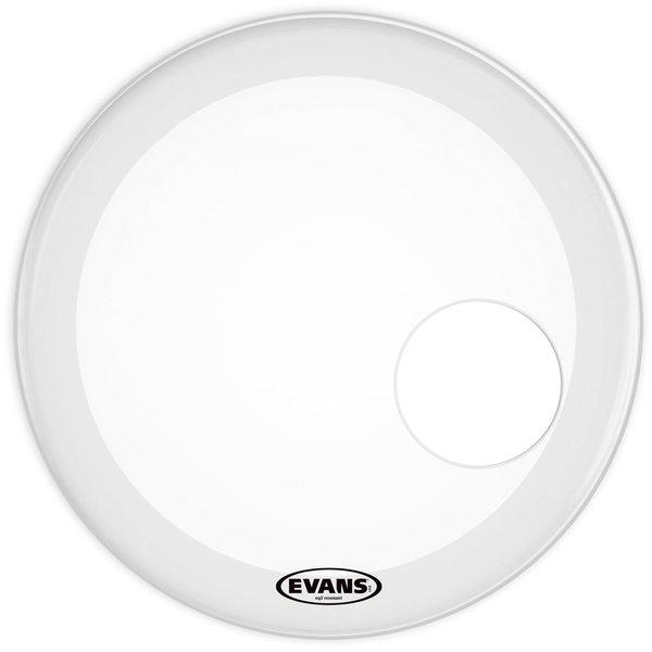 "Evans Evans EQ3 Resonant Smooth White 24"" Bass Drumhead"