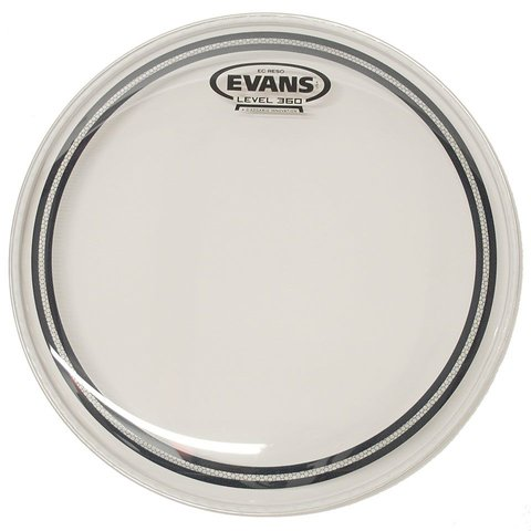 "Evans EC Resonant Clear 13"" Tom Drumhead"