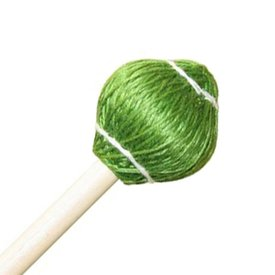 "Mike Balter Mike Balter 22R Pro Vibe Series 15 1/2"" Medium Hard Green Cord Marimba/Vibe Mallets with Rattan Handles"