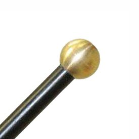 "Mike Balter Mike Balter BB12 Balter Basics 14 1/8"" Hard Round Brass Bell Mallets with Black Birch Handles"