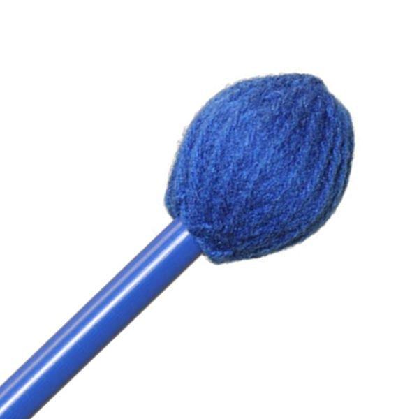 "Mike Balter Mike Balter BB2 Balter Basics 16 1/2"" Medium Blue Yarn Marimba/Vibe Mallets with Blue Birch Handles"