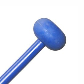 "Mike Balter Mike Balter BB8 Balter Basics 16 1/8"" Medium Blue Rubber Marimba/Xylophone Mallets with Blue Birch Handles"