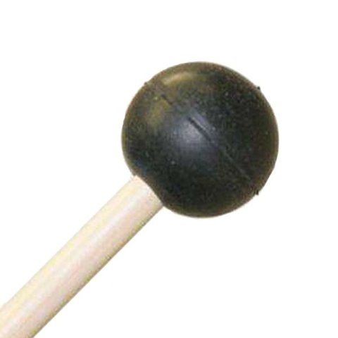 "Mike Balter 101R Gradioso Series 16 1/8"" Extra Soft Round Black Rubber Marimba Mallets with Rattan Handles"