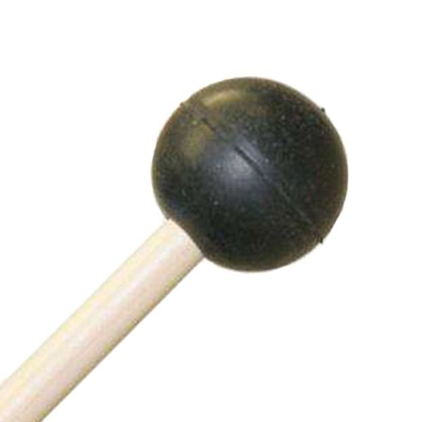 "Mike Balter Mike Balter 101R Gradioso Series 16 1/8"" Extra Soft Round Black Rubber Marimba Mallets with Rattan Handles"