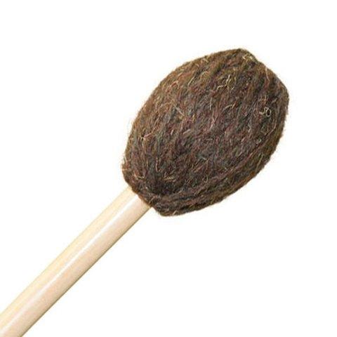 "Mike Balter 182B Universal Series 16 7/8"" Medium Hard-Hard Brown Yarn Marimba Mallets with Birch Handles"