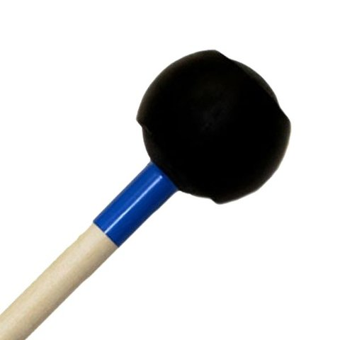 "Mike Balter 173R Latex Covered Series 16 1/4"" Medium Rubber Ball with 1/16"" Latex Marimba Mallets with Rattan Handles"