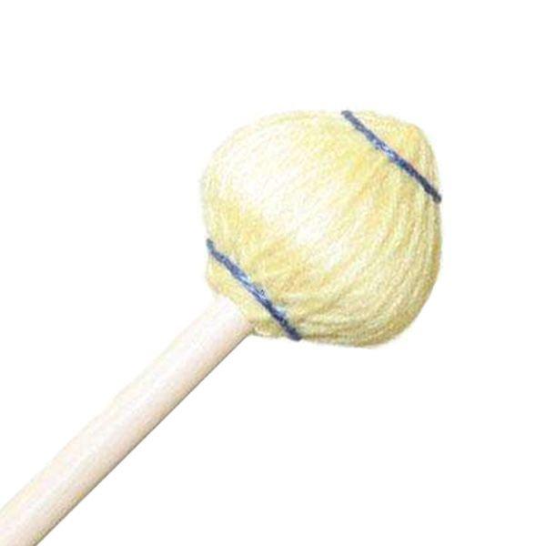"Mike Balter Mike Balter 63R Mushroom Head Series 15 1/2"" Medium Soft Yellow Yarn Marimba/Vibe Mallets with Rattan Handles"