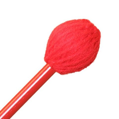 """Mike Balter BB3 Balter Basics 16 1/2"""" Soft Red Yarn Marimba/Vibe Mallets with Red Birch Handles"""