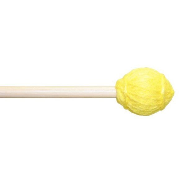 "Mike Balter Mike Balter 11B Ensemble Series 15 3/4"" Hard Yellow Yarn Marimba/Vibe Mallets with Birch Handles"