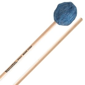 Innovative Percussion Innovative Percussion Soft Legato Marimba Mallets - Deep Blue Yarn - Birch