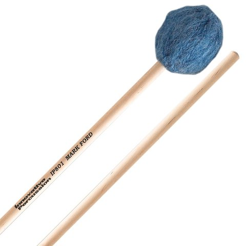 Innovative Percussion Soft Legato Marimba Mallets - Deep Blue Yarn - Birch