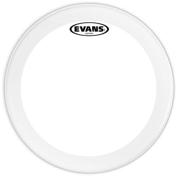 """Evans Evans EQ3 Clear 24"""" Bass Drumhead"""