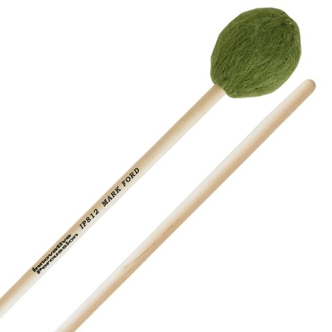 Innovative Percussion Strong Legato Medium Soft Marimba - Green Yarn - Birch