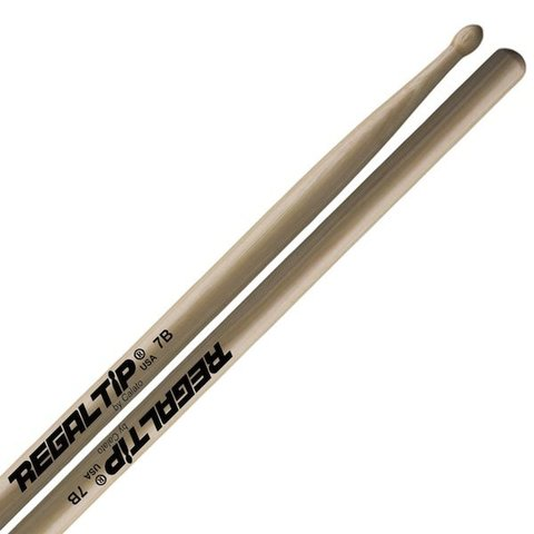 Regal Tip Classic Hickory Wood Tip 7B Drumsticks