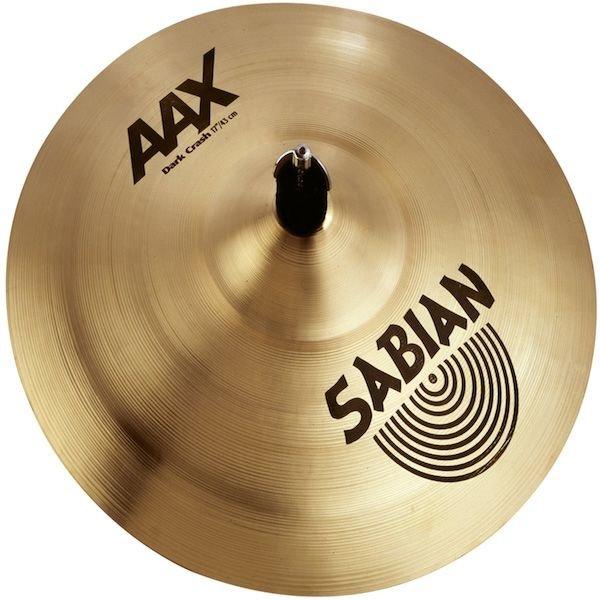 """Sabian Sabian AAX 17"""" Dark Crash Cymbal Brilliant"""
