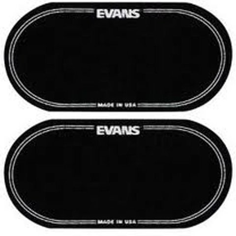 Evans Black Nylon Bass Drum Patch Double Pedal (2 Pack)