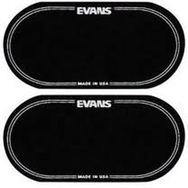 Evans Evans Black Nylon Bass Drum Patch Double Pedal (2 Pack)