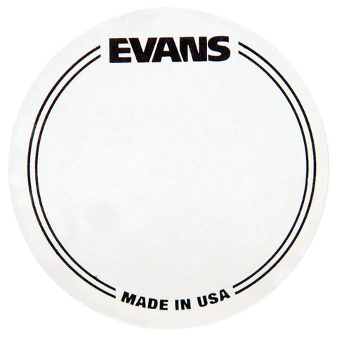 Evans Clear Polyester Bass Drum Patch Single Pedal (2 Pack)