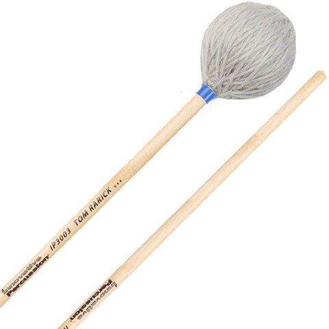 Innovative Percussion Medium Hard Marimba Mallets - Pewter Yarn - Birch