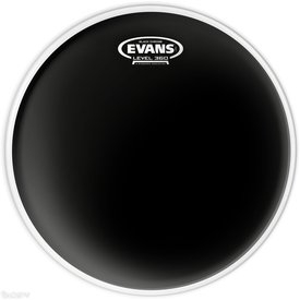 "Evans Evans Black Chrome 14"" Batter Tom Drumhead"