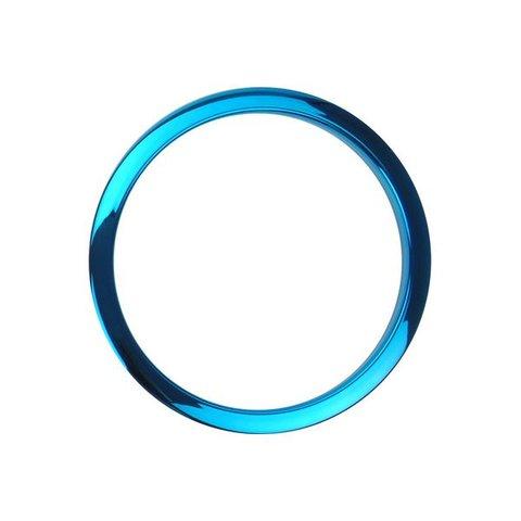 Bass Drum O's 4 Blue Chrome Drum O's