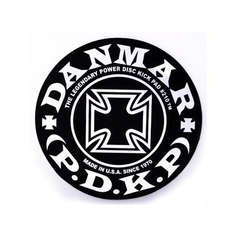 Danmar Bass Drum Impact Pad - Iron Cross Graphic