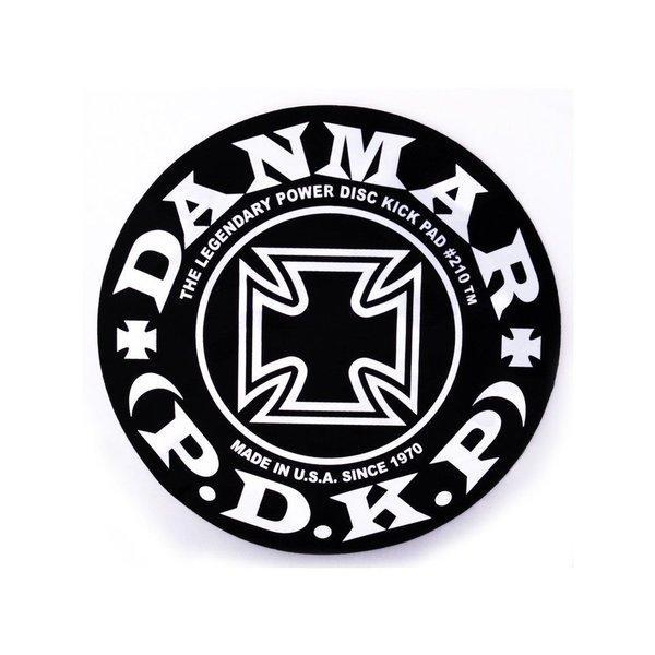 Danmar Danmar Bass Drum Impact Pad - Iron Cross Graphic