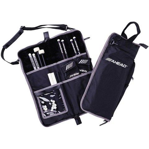 Ahead Deluxe Stick Bag (Black with Gray Trim, Gray Interior, Plush interior)