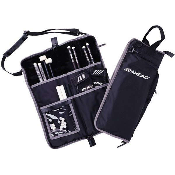 Ahead Ahead Deluxe Stick Bag (Black with Gray Trim, Gray Interior, Plush interior)