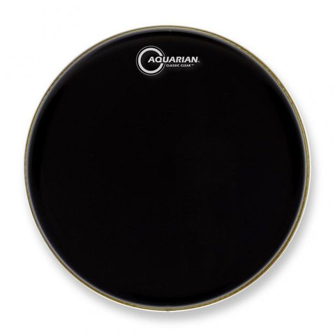 "Aquarian Classic Clear Series 16"" Drumhead - Black"