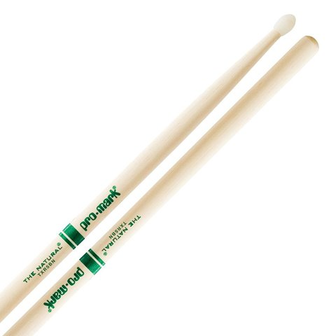 "Promark Hickory 5B Nylon Tip ""Natural"" Drumsticks"