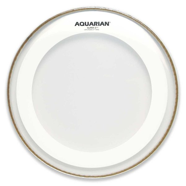"Aquarian Aquarian Super-2 Series 8"" Drumhead with Studio-X Ring"