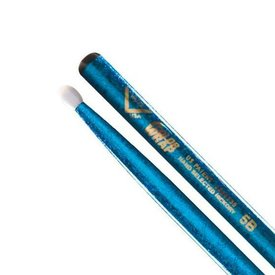 Vater Vater Color Wrap 5B Blue Sparkle Nylon Tip Drumsticks