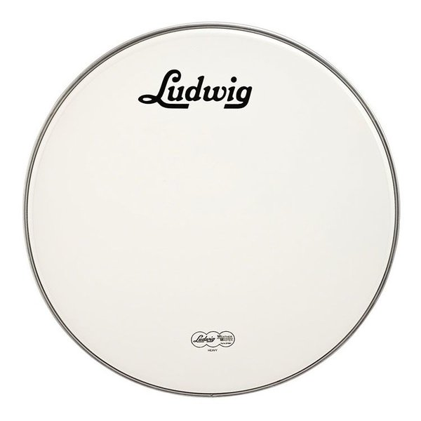 "Ludwig Ludwig Weather Master Coated Heavy 18"" Bass Logo Drumhead"