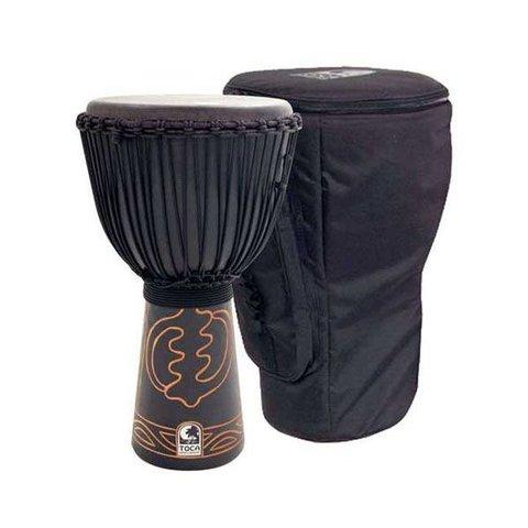 Toca 13 Rope Tuned Black Mamba Djembe w/Pro Bag & Djembe Hat