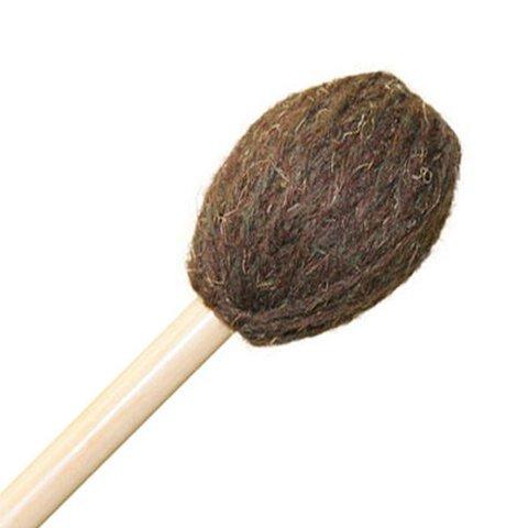 "Mike Balter 184B Universal Series 17"" Medium Soft-Medium Brown Yarn Marimba Mallets with Birch Handles"