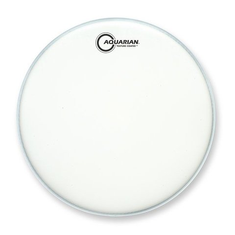 "Aquarian Force I Series Texture Coated 8"" Drumhead Satin Finish - White"