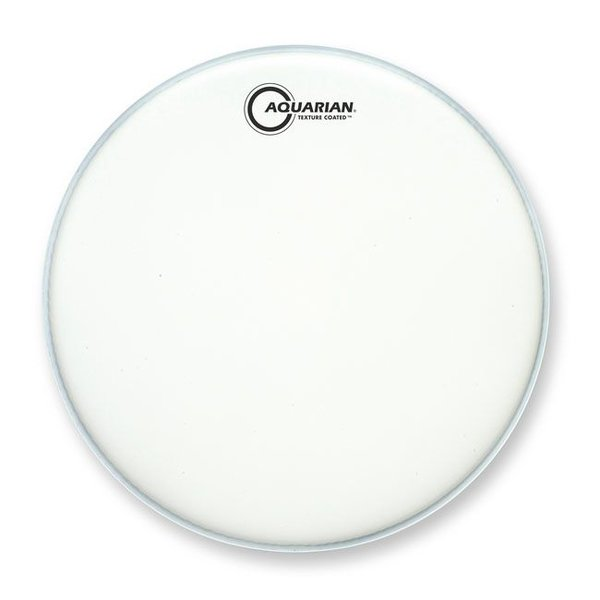"Aquarian Aquarian Force I Series Texture Coated 8"" Drumhead Satin Finish - White"