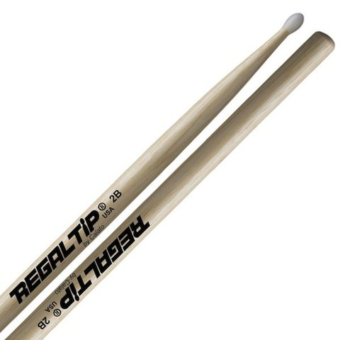 Regal Tip Classic Hickory Nylon Tip 2B Drumsticks