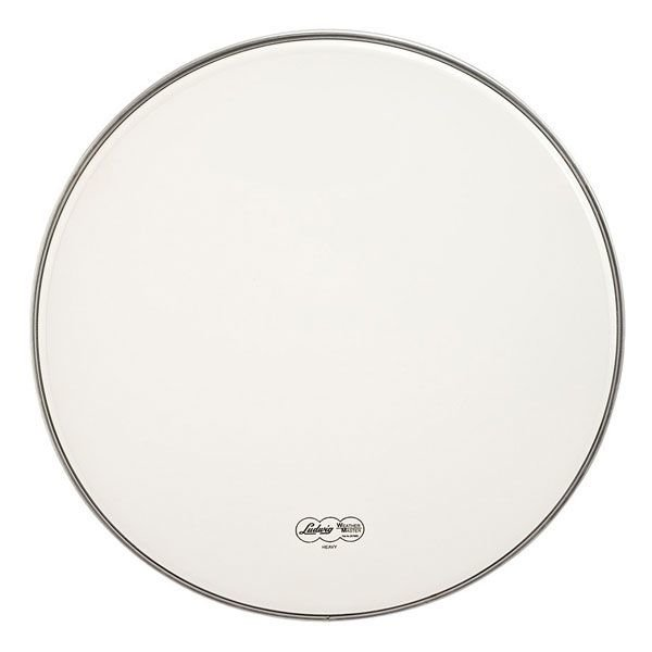 """Ludwig Ludwig Weather Master Smooth White Heavy 22"""" Marching Bass Batter Drumhead"""