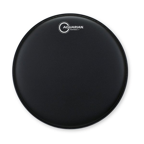 "Aquarian Aquarian Response 2 Series Texture Coated 12"" (2-Ply) Drumhead - Black"
