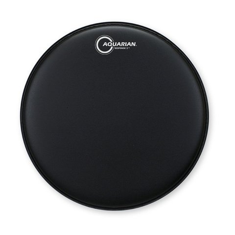"Aquarian Response 2 Series Texture Coated 8"" (2-Ply) Drumhead - Black"