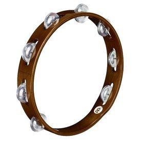 Meinl Meinl Wood Tambourine Aluminum Jingles 1 Row African Brown