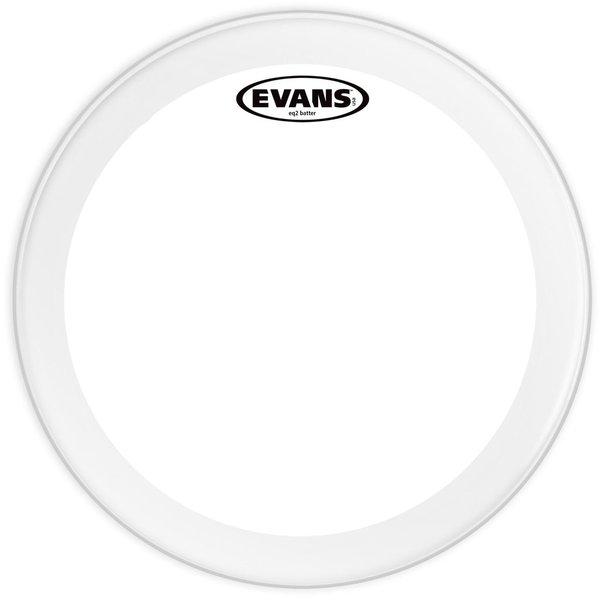 """Evans Evans EQ2 Clear 24"""" Bass Drumhead"""