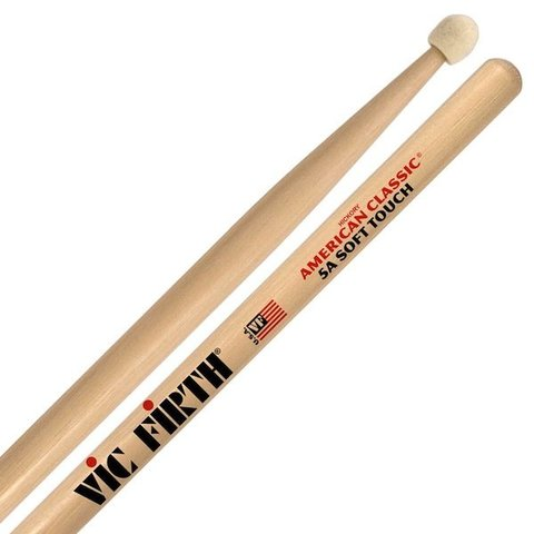 Vic Firth American Classic - 5A Soft Touch - Felt Tip Drumsticks